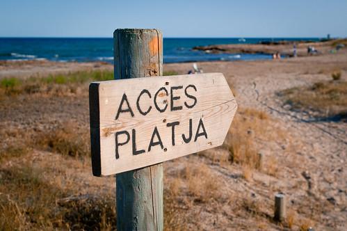 Acces platja