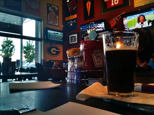 Working on a case at the Hail Mary Sports Pub by danielrpartain