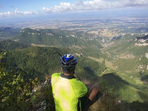 Simon risking life at cliff view
