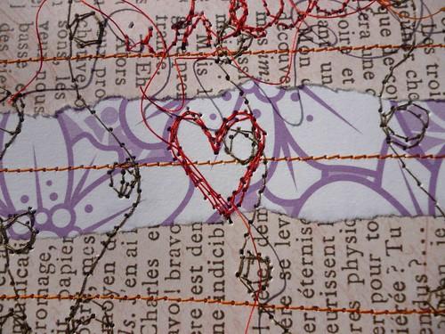 DPP #32 Repurposed Papers heart close-up