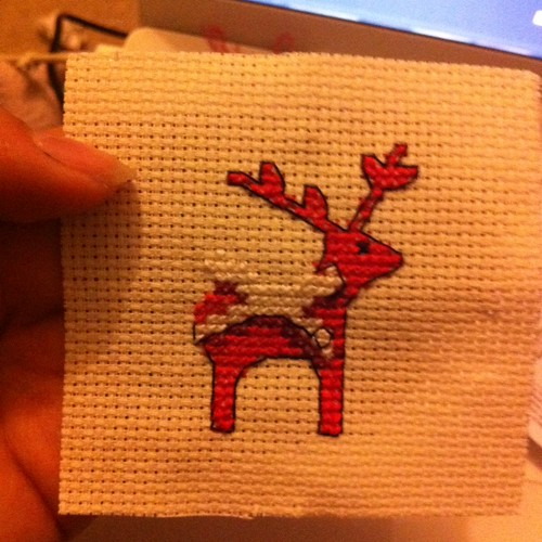 It's a reindeer - the bow is almost complete.