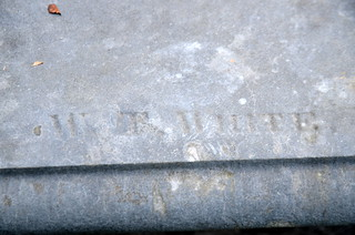 W. T. White signature stone