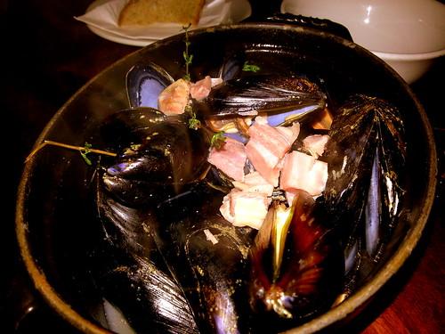 Mussels in Bacon Bone Broth