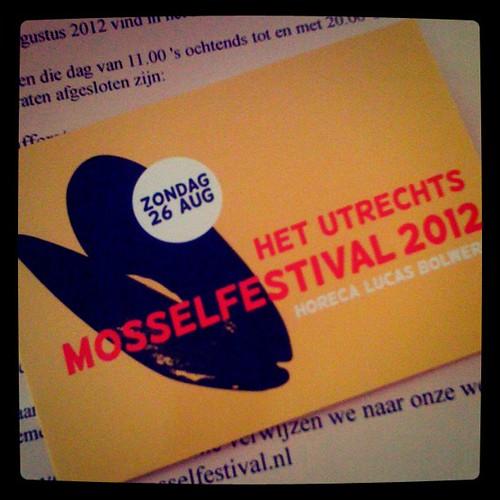 Het Utrechts Mosselfestival! Zondag 26 Augustus
