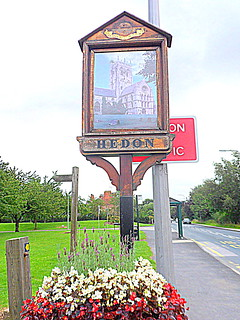 Hedon Town sign - Hull Road