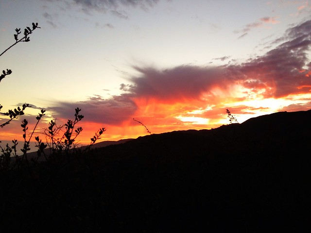 Sunset on the Los Liones trail