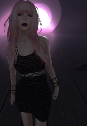 Onyx Studs Dress .