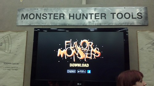 Flavor Monsters Video Game Booth at Baltimore Comic-Con 2012