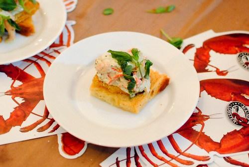 Clark Frasier and Mark Gaier (Arrows) lobster fried green tomato sandwich