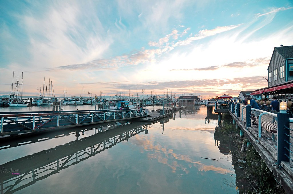 Sunset at Steveston Marina