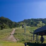 Ski mountain at Aspen in summertime