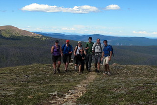 Hikers in Cathedral Provincial Park
