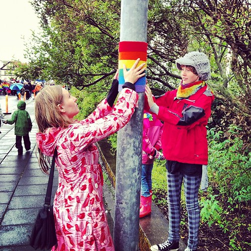 #gaypride #yarnbombing #yarngraffiti #yarnstorming #reykjavik #iceland
