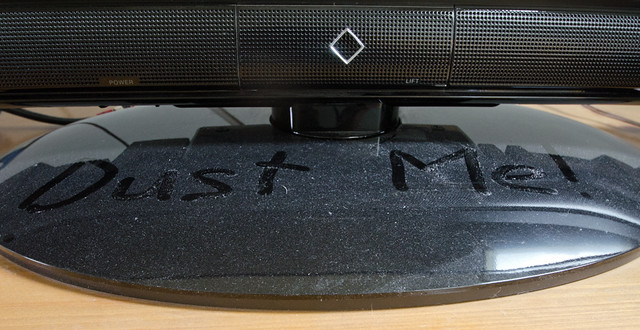 dust on a computer monitor
