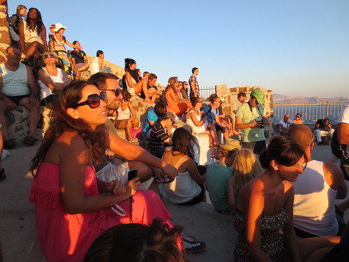 Oia sunset crowd