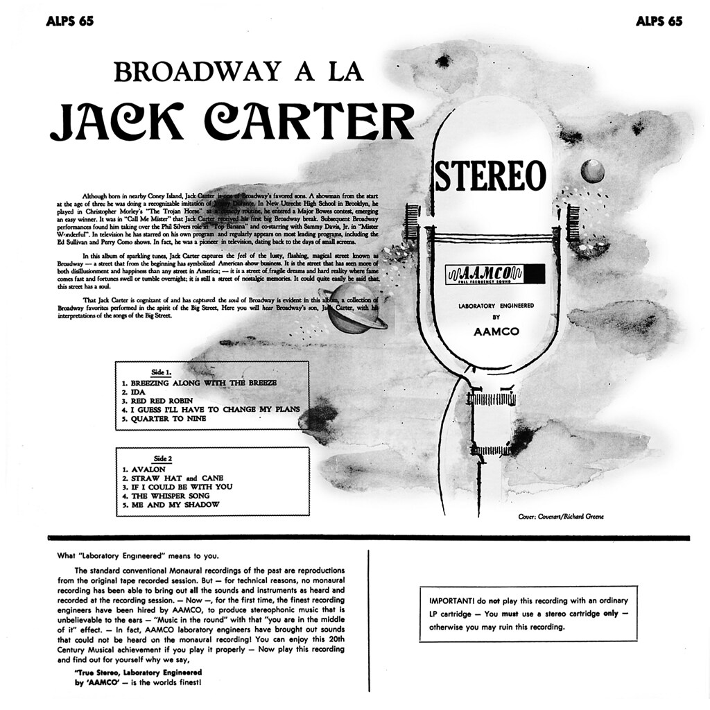 Jack Carter - Broadway à la Jack Carter