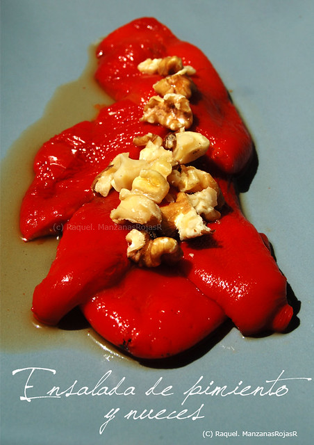 Ensalada de pimientos y nueces