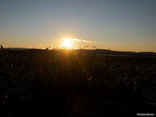 Sunset or sunrise near Rivkkoš