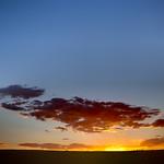 Sunset over Clayton Lake