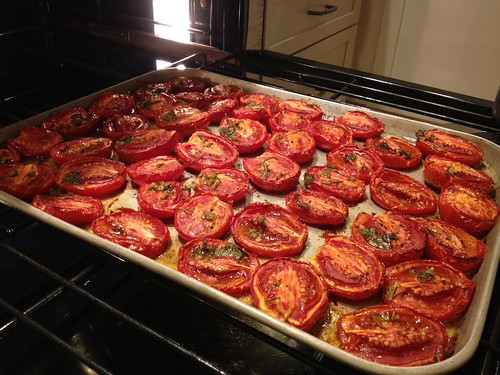 Herbed roasted tomatoes