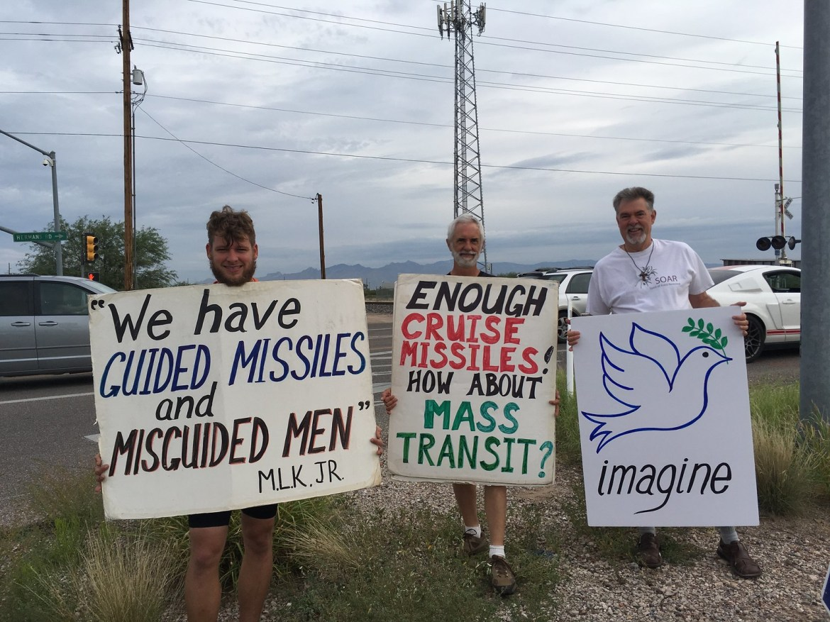 Tucson,AZ CNV Action 2016 - Vigil at Raytheon Missile Systems (3)