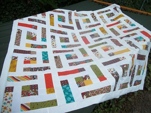 maze quilt top