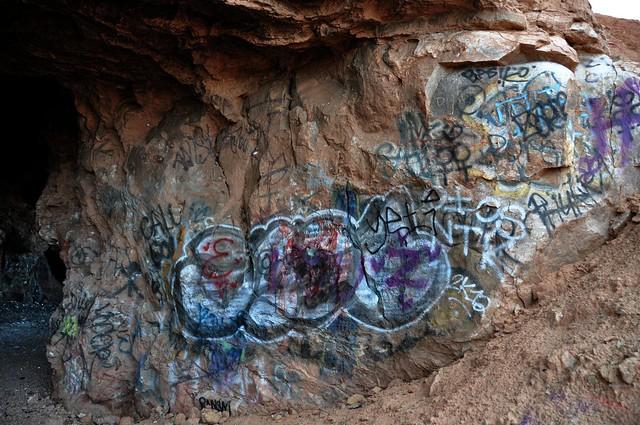 graffiti in cave