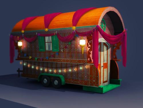 Supernatural - Gypsy Caravan Concept Art