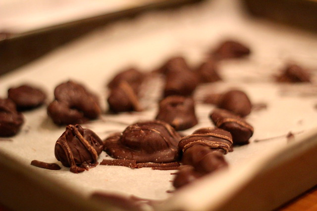 Thursday: obsessed with my own salted dark chocolate almonds