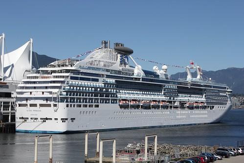 Island Princess at Canada Place Vancouver BC