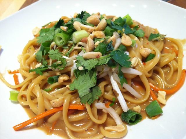 Thai Peanut Noodles at Galactic Pizza