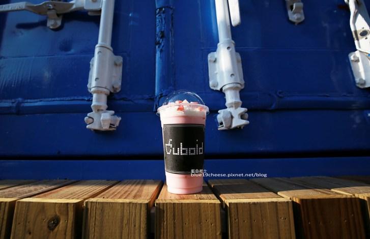 29010112723 fc696868cc c - Cuboid台中人氣貨櫃冰飲.Cuboid茶予茶.超夯整排二層樓的藍色貨櫃屋.打卡IG熱門地點.芭蕾麵包和PUGU田園雜貨旁