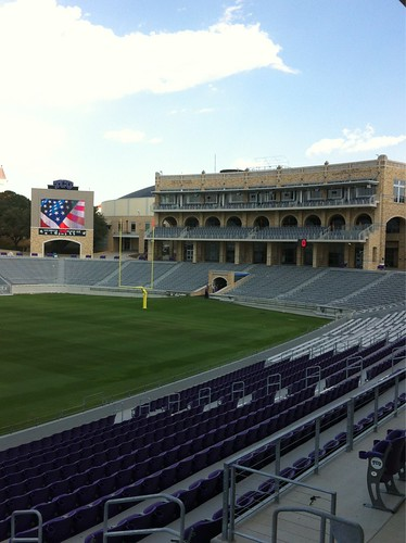 View from one of TCU's $15 million Founders Suites