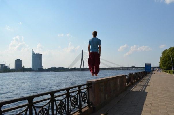 A bridge in Riga, Latvia