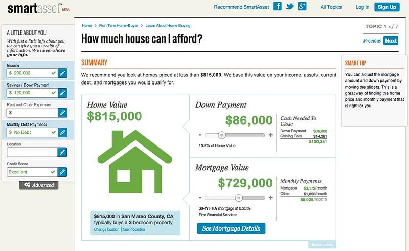 SmartAsset.com screen shot