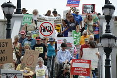 Anti-Fracking Rally, Albany NY
