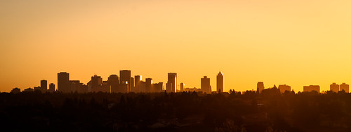 Strathcona Science Skyline Sunset