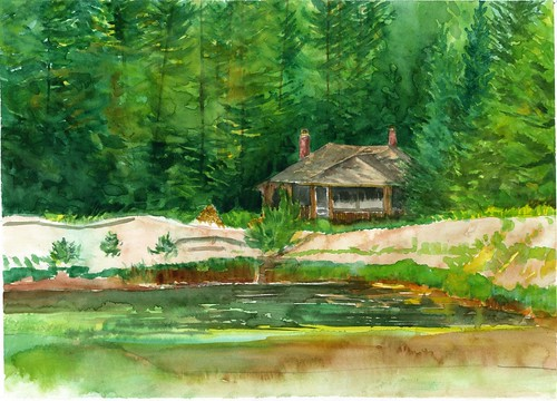 Arbutus Pond, Winter Cabin
