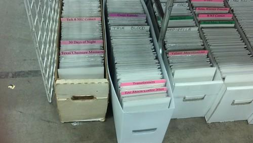 Stacks of Comic Books at Baltimore Comic-Con 2012