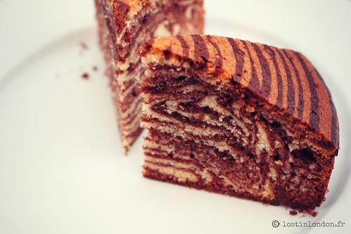 gâteau marbré tigré