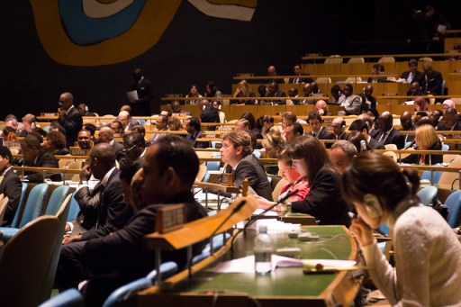 Delegates in the General Assembly Hall