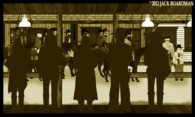 Wyatt Earp & Sadie confronted McCulloch's boys ©2012 Jack Boardman