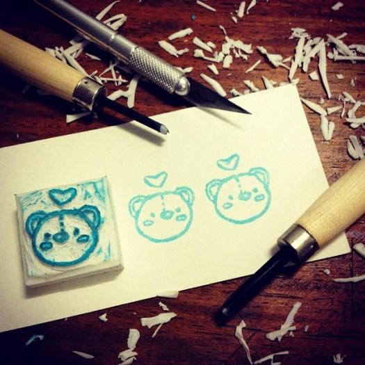 Eraser stamp: bear