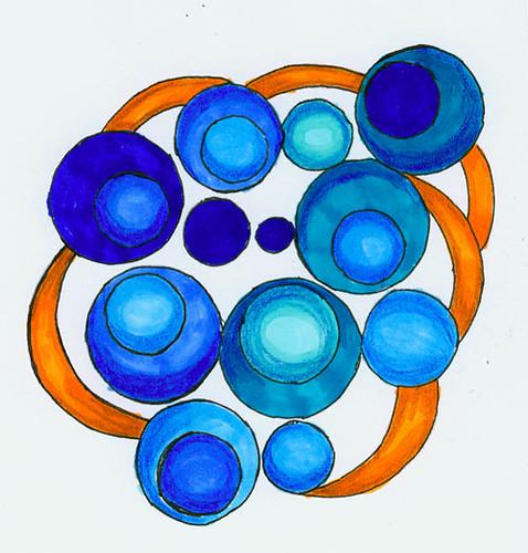 Doodle in blue