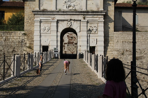 Entering the Castello