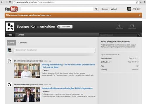 Sveriges Kommunikatörer på YouTube