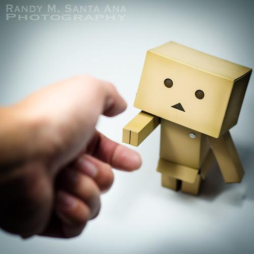 Danbo Adventures: Danbo Shakes Hand.