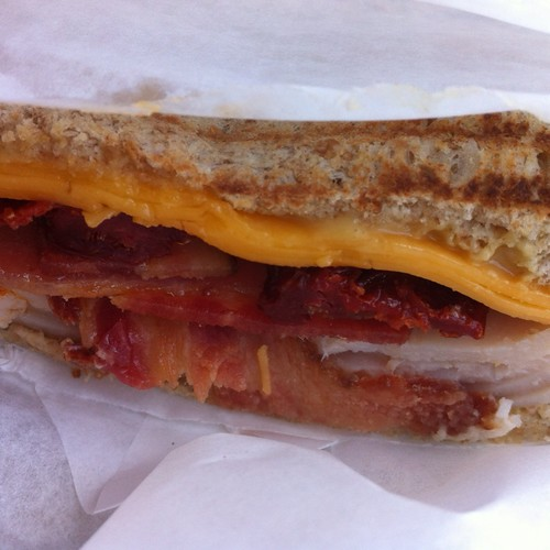 Turkey Sandwich With Bacon, Cheddar, Sundried Tomatoes And Dijon @ Chevron