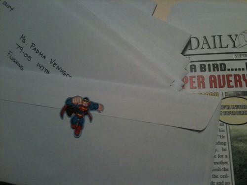 superman party invitation envelope