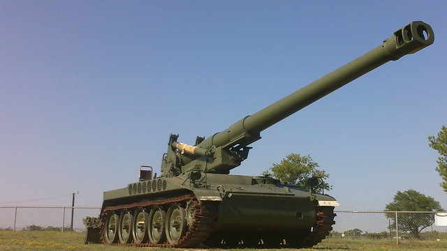 a tank with a big gun